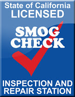 California State Smog Check certification badge for Jeff's Auto Works